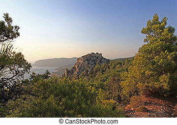 monolithos, castillo