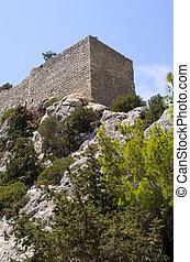 monolithos, château,  rhodes, île, Grèce