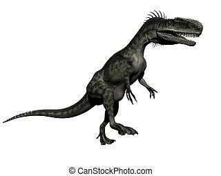 monolophosaurus dinosaur - 3d render - monolophosaurus...