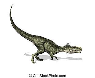 Monolophosaurus Dinosaur - 3D render of a Monolophosaurus...