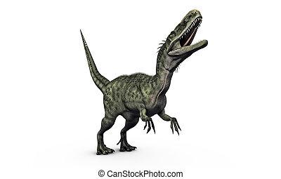 monolophosaurus isolated on white background