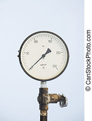 Monometer for measurement of pressure in a chink