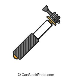 Monopod color icon. Selfie stick. Isolated vector illustration