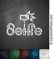 monopod selfie icon