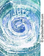 monoprint, watercolour