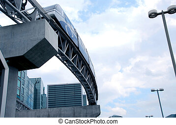Monorail - Automated people mover monorail at Toronto...