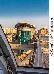 Monorail station on a man-made island Palm Jumeirah