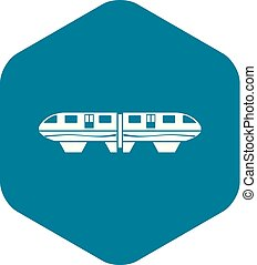 Monorail train icon, simple style