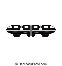 Monorail train icon, simple style - Monorail train icon in...