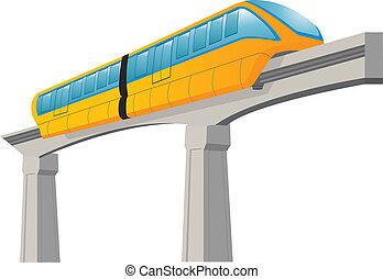 Monorail. Speed modern train