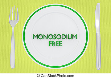 MONOSODIUM FREE concept - 3D illustration of MONOSODIUM FREE...