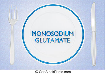 MONOSODIUM GLUTAMATE concept - 3D illustration of MONOSODIUM...
