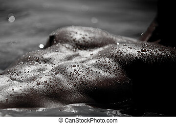 Monotone Male Senuality - Monotone Bodyscape Photo Of A...