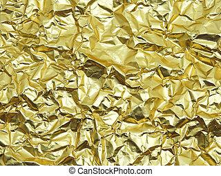Monotone texture of the golden foil.