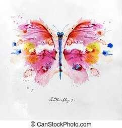Monotype vivid butterfly