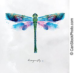 Monotype vivid dragonfly