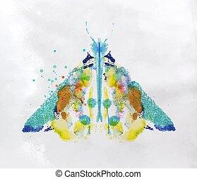 Monotype vivid moth