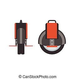 Monowheel Vector Illustration