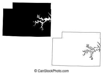 Monroe County, Missouri (U.S. county, United States of America, USA, U.S., US) map vector illustration, scribble sketch Monroe map
