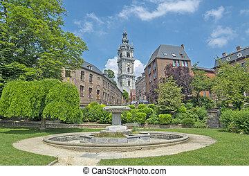 Mons, Wallonie, Belgium - baroque Belfry El Catiau built in ...