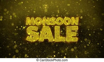 Monsoon Sale Wishes Greetings card, Invitation, Celebration Firework