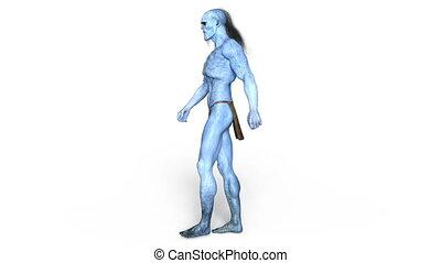 3D CG rendering of a monster.
