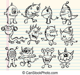 Monster Alien Creature Sketch set - Monster Alien Creature...