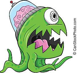 Monster Alien Vector Illustration Art