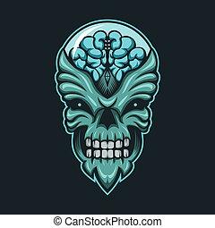 monster alien vector illustration