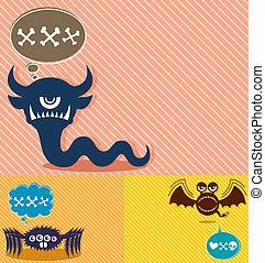 Monster Backgrounds 4