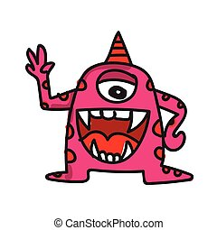 monster cartoon icon