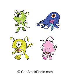 Monster cartoon vector illustration