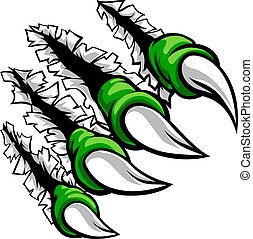Monster Claw Hand Ripping Tearing Background
