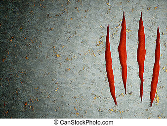 Monster claws - Horizontal background - metal, ripped ...