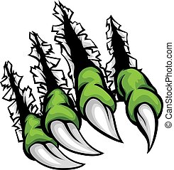 Monster Claws Ripping Scratching Background