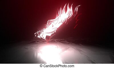 monster dragon head video animation - monster dragon head ...