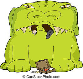 Monster Eating Businessman - Monster devouring business man ...