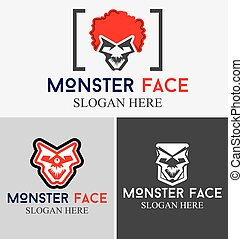 Monster Face Logo