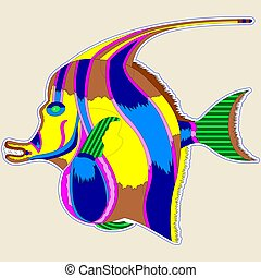 Monster fish with a large fin - a great design