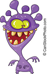 monster funny - illustration of a monster funny