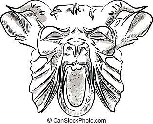 Monster head vector illustration