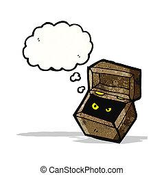 monster in box cartoon