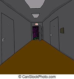 Monster in Corridor