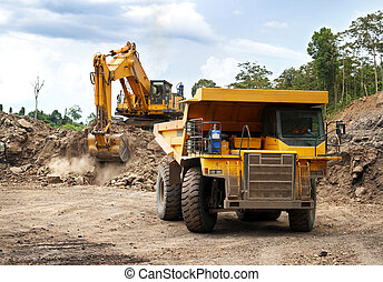 Monster machines at work - Monster machines working on site