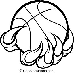 Monster or animal claw holding Basketball Ball - A monster ...