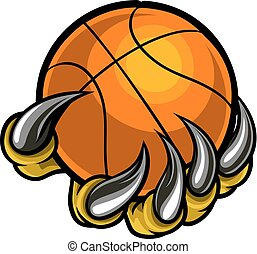 Monster or animal claw holding Basketball Ball - A monster...