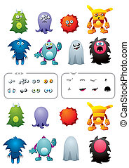 Monster pack - Editable monsters set. Create your own...