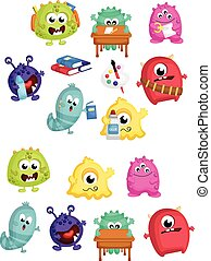 Monster School Vector Set