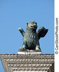 monster., ser, piazetta, venice., serpente, escultura, could, leão, -, aquilo, mitologia, grego, parte, quimera, despede-respirar, cabra, era, quimera