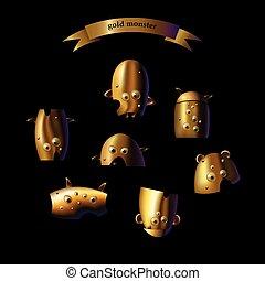 monster set gold terrible